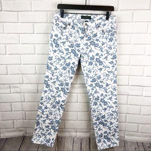 LRL Lauren Jeans Co | floral printed denim jeans